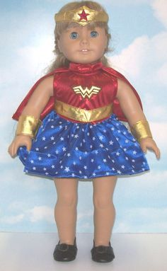 """Wonder Woman Costume fits 18"""" American Girl Doll Clothes WIDEST SELECTION FOUND! #Lovvbugg #DollClothesCostume"""