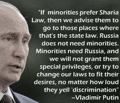 Putin Comments On Sharia Law…This Is What A Strong Leader Sounds Like Mein Land, Sharia Law, Conservative Politics, Vladimir Putin, Our Country, Way Of Life, Real Life, Look At You, Geography