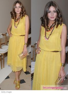 Olivia Palermo yellow dress