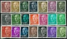 ESPANA postage stamps Correos | espana spain nº 1143 63 1955 1956 general franco mnh stamps condition ...I HAVE ONE EACH OF 10 15 25 & 50