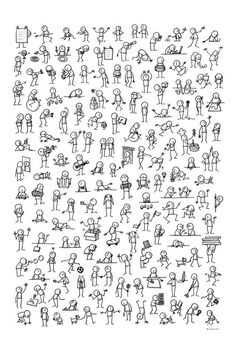 Ideas How To Draw People Easy Stick Figures Easy Doodles Drawings, Easy Disney Drawings, Disney Character Drawings, Simple Doodles, Unique Drawings, Cute Drawings, Chalk Drawings, Character Sketches, Drawing For Beginners