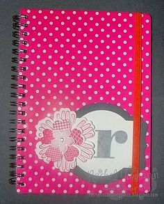 Time to Get Personal: Alter and personalize any notebook to make the perfect gift that is sure to be treasured. Uses Stampin' Up! stamps, ink, cardstock and punches along with the big shot and deco labels framelits. Visit www.rachelsstampingplace.blogspot.com for all the details and to order your supplies