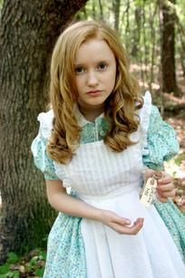 """Skylar Nicholson plays the title role in the Serenbe Playhouse production of """"Alice in Wonderland."""""""