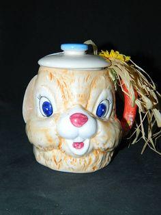 A Vintage Happy Easter Bunny Singing Mug w/Lid-Lift by ZiggyzAttic