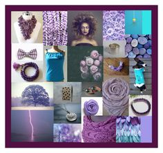 """""""Blues & Violets"""" by crystalglowdesign ❤ liked on Polyvore featuring art"""