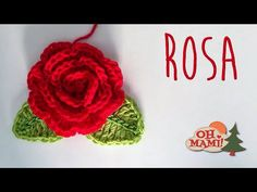 ROSA A CROCHET (CROCHET ROSE) - YouTube