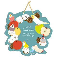 2015年版 壁掛カレンダー 2015 calendar Disney Illustration, People Illustration, Christmas Illustration, Budgies, Cockatiel, Parrot Painting, Chibi Food, How To Make Toys, Cute Chibi