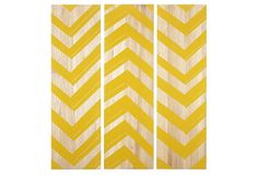 Chevron wood panels
