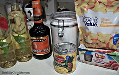 White Peach Sangria - This Silly Girl's Kitchen Peach Sangria Recipes, White Peach Sangria, Drink Recipes, Alcholic Drinks, Alcoholic Beverages, Fluffy Buttercream Frosting, Red Velvet Cheesecake Cake, Cream Cheese Roll Up, Fuzzy Navel