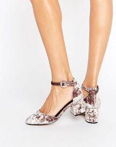 Бархатные туфли на каблуке ASOS SPICE