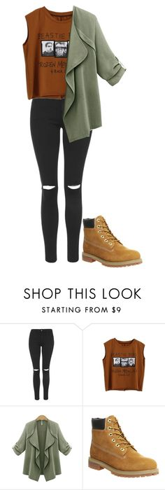 """""""Untitled #13"""" by anna-caruana ❤ liked on Polyvore featuring Topshop, Timberland, women's clothing, women, female, woman, misses and juniors"""
