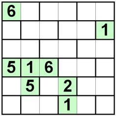 Number Logic Puzzles: 21378 - Bricks size 6
