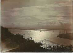 1915c Durban Bay by moonlight - how very atmospheric!