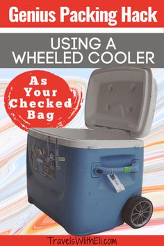 Why a Wheeled Cooler Makes a Great Checked Bag - It might sound crazy but sometimes a wheeled cooler is perfect to bring as a checked bag. Read on to find why bringing a wheeled cooler on your vacation is the ultimate packing hack. Suitcase Packing, Packing Tips For Travel, Travel Bags, Travel Ideas, Travel With Kids, Family Travel, State Park Cabins, Trip To Maui, Packing A Cooler