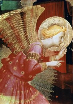 Fra Angelico - Angel of The Annunciation - Detail - art prints and posters