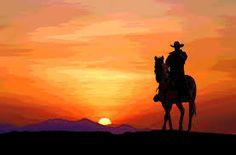 cowboy desert artwork - Google Search Sunset Silhouette, Silhouette Painting, Horse Silhouette, Cowboy Horse, Cowboy Art, Cowboy And Cowgirl, Western Photography, Horse Photography, Cowboy Pictures