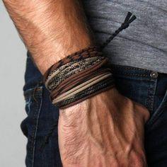 Bracelet Man Gift Burning Man Bracelet Wrap Man Festival Bracelet for Man Boyfriend Gift Bohemian Man Jewelry Cuff Bracelet for Men Bracelet Infinity, Bracelet Wrap, Bracelet Making, Man Bracelet, Braided Bracelets, Bracelets For Men, Gifts For Husband, Gifts For Him, Man Gifts