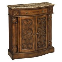Stein World William Brown Calico Marble Accent Chest - 65164