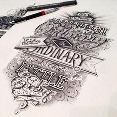 Fantastic and unique lettering work from Maksim Lopez