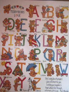 See Sally Sew-Patterns For Less - Alphabears Alphabet 26 Designs Cross Stitch Needlepoint Charts Kappie Book 79, $8.99 (http://stores.seesallysew.com/alphabears-alphabet-26-designs-cross-stitch-needlepoint-charts-kappie-book-79/)