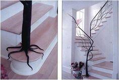 Moderne, intérieur, décoration en fer forgé