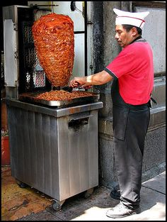 Carne al Pastor (Centro, Ciudad de Mexico, Distrito Federal).  I used to make a Mexican friend drive me to one on Insurgentes so I could get my fix.  Had to have a Fanta with it!