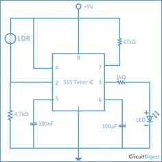 Light activated switch circuit using LDR and IC 555 | Hacking ...