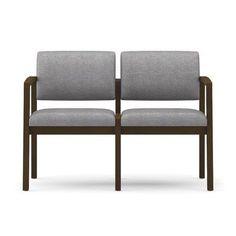 Lesro Lenox Two Seater Fabric: Heather - Cement, Frame Finish: Medium