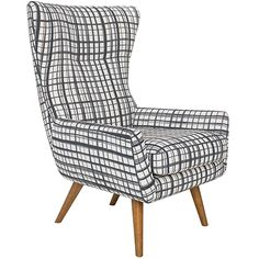 Modern Wing Armchair Brooklyn Black