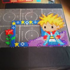The Little Prince photo frame hama beads by drakebcn