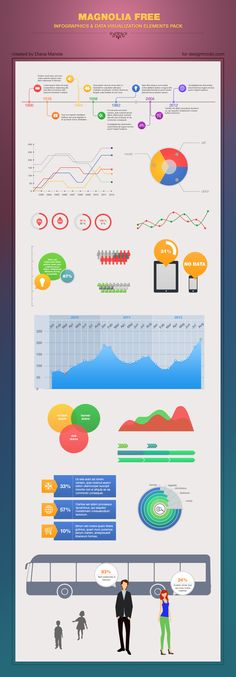 Magnolia Free – Infographic PSD Template