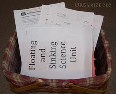 Organizing kids' school papers is the topic of The Sunday Basket Week 7.
