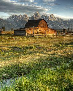 Mormon Row Barn, Grand Teton National Park, Wyoming. Photo: howardj1971