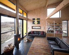Credit: Andrew Lee The Hen House, Fiscavaig Designed by local architect Rural Design to be as earthy inside as it is o...