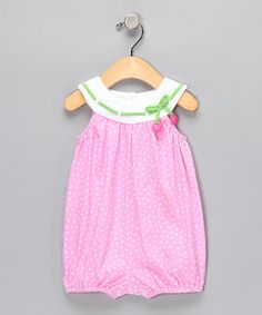 Take a look at this Sweet Potatoes Pink Fleck Bubble Bodysuit - Infant by Sweet Potatoes on #zulily today!