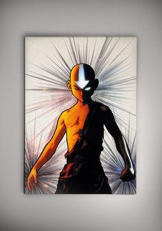 Avatar The Last Airbender Aang Poster Anime Otaku Manga Print Fan Art n1