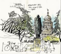 urban sketchers texas: Sketching around Austin