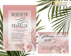 Peach Blush Seashell Beach Wedding by GlamPrettyWeddings on Etsy