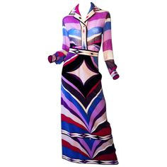 Emilio Pucci 1960s | From a collection of rare vintage suits, outfits and ensembles at http://www.1stdibs.com/fashion/clothing/suits-outfits-ensembles/