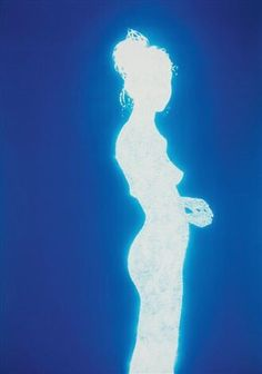 By Christopher Bucklow. These photograms are made by tracing the silhouette of his model onto a large sheet of aluminum foil, pricking it with thousands of small holes, then laying a sheet of photo. Photo Wall Collage, Picture Wall, Collage Art, Arte Sharpie, Ps Wallpaper, Images Esthétiques, Aura Colors, Retro Futurism, Pics Art