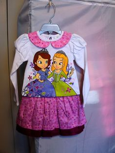 Disney Princess Sofia The First & Amber Skirt & Top Set - Girls Size:2, 7/8  #Disney #DressyEveryday