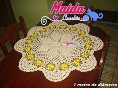 Maida Crochês: Toalha de Mesa Flor Pipoca