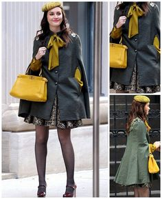 blair waldorf fashion. wanting to get a cape now!