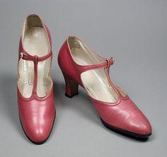 T-Strap Shoes, John Wanamaker (United States, Pennsylvania, Philadelphia): ca. 1925, American, leather.