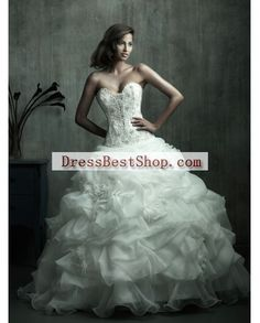 Allure Couture C170 Size 10 New Wedding Dress   Still White