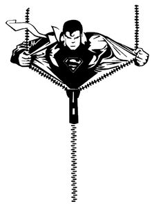 silhouette portrait cameo superboy superman