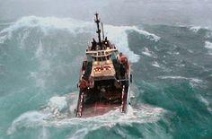 Offshore Ship in Heavy Storm on the North Sea - Humans At Sea Sea Fishing, Fishing Boats, Sea State, Sailing Gear, Wild Waters, Big Sea, Rough Seas, Merchant Marine, Merchant Navy