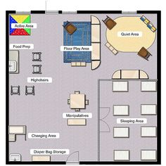nursery school layout ideas