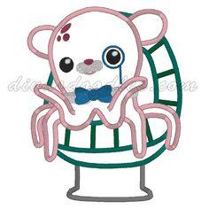Octonauts Professor Inkling Octopus Applique 400