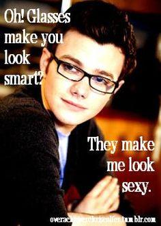 Chris Colfer, glasses